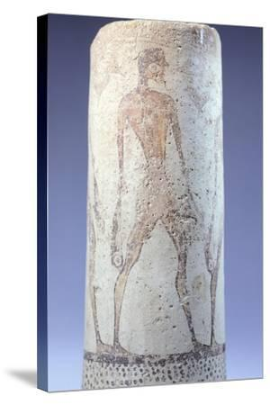 Vase Decorated with Figure of Fisherman, Detail, Cycladic Civilization, 3500-1050 Bc--Stretched Canvas Print