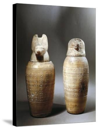 Canopic Jars--Stretched Canvas Print