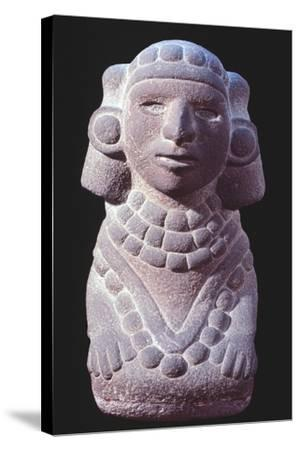 Statuette Originating from Mexico Depicting a Goddess.--Stretched Canvas Print