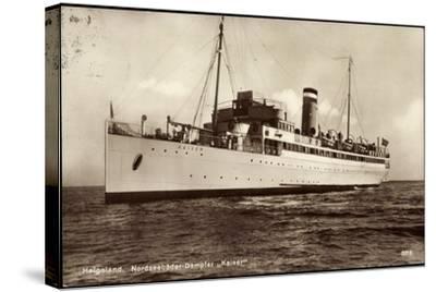 Hapag, Helgoland, Nordseebäderdampfer Kaiser--Stretched Canvas Print