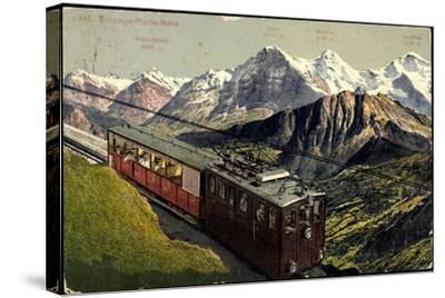 Eisenbahnen, Schweiz, Schynige Platte Bahn, Bergbahn--Stretched Canvas Print