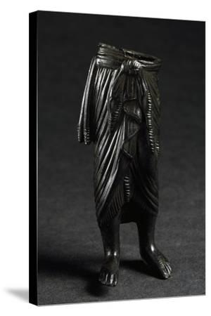 Bronze Figure with Draped Skirt--Stretched Canvas Print