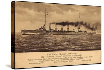 Kriegsschiff S. M. Kleiner Kreuzer Straßburg--Stretched Canvas Print