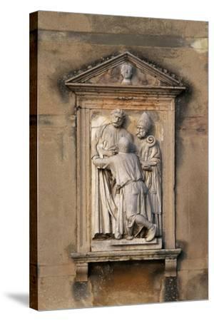 Italy, Veneto, Garda, San Vigilio, Decorative Detail from Villa Guarienti--Stretched Canvas Print
