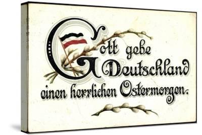 Ostergruß an Deutschland, Fahne--Stretched Canvas Print