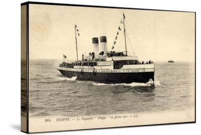 Dieppe, Le Paquebot Dieppe En Pleine Mer--Stretched Canvas Print