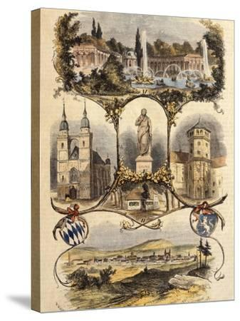 Germany, View of Bayreuth, 1860--Stretched Canvas Print