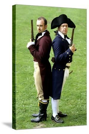 English Regency Period Duellists, 1820, Naval Officer and Civilian, Historical Re-Enactment--Stretched Canvas Print