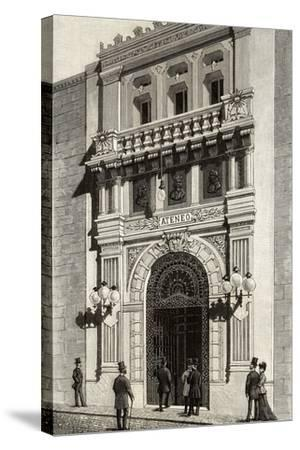 Spain, Madrid, Scientific, Literary and Artistic Ateneo, Engraving, 1892--Stretched Canvas Print
