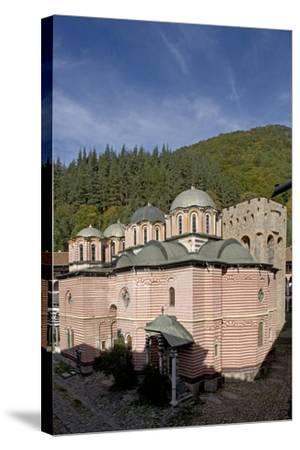Bulgaria. Rhodope Mountains. Rila Monastery, Church of Nativity of Virgin--Stretched Canvas Print