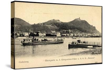 Godesberg Bonn, Königswinter Fähre S.S.D. Borussia--Stretched Canvas Print