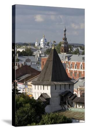 Russia, Yaroslavl, Townscape with Churches and Rooftops--Stretched Canvas Print