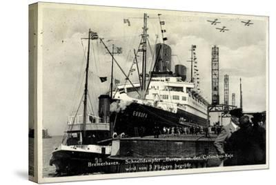Bremerhaven, Norddeutscher Lloyd, Dampfer Europa--Stretched Canvas Print