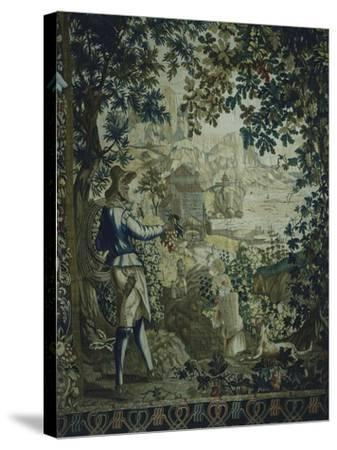 Autumn, Detail of 18th Century Gobelins Tapestry Depicting the Seasons--Stretched Canvas Print
