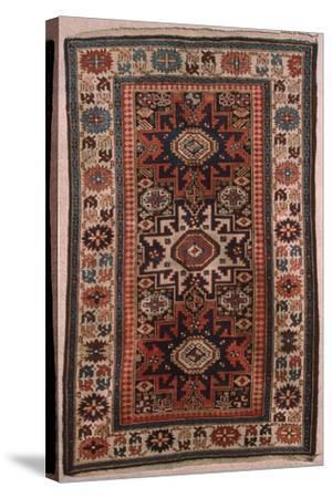 Rugs and Carpets: Caucasus Region, Lesgi Carpet--Stretched Canvas Print