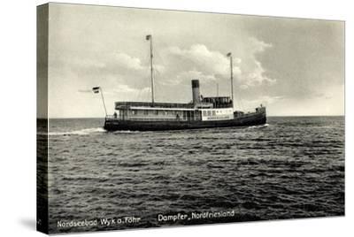 Dampfer Nordfriesland, Wyker Dampfschiffs Reederei--Stretched Canvas Print