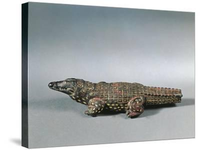 Bronze and Nielloed Electrum Crocodile Figure, from Faiyum, Middle Kingdom--Stretched Canvas Print