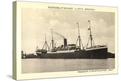 Norddeutscher Lloyd Bremen, Dampfer Main--Stretched Canvas Print