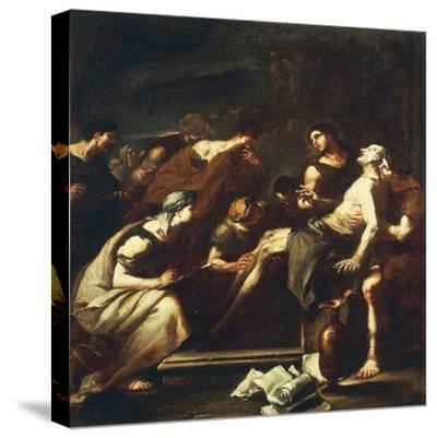 Seneca Dying, Luca Giordano--Stretched Canvas Print