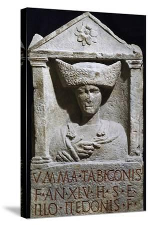 Funerary Stele of Umma in Pannonian Costume from Au Am Leithaberg, Austria--Stretched Canvas Print