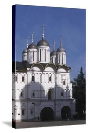 Russia, Moscow Region, Moscow, Kremlin, Cathedral of Assumption--Stretched Canvas Print