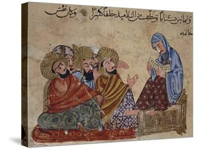 13th Century Turkey Miniature Depicting Socrates Discussing Philosophy with His Disciples--Stretched Canvas Print