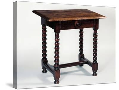 Louis XIII Style Oak Rustic Table, France--Stretched Canvas Print