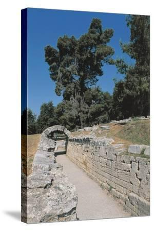 Old Ruins of an Archway, Olympia, Greece--Stretched Canvas Print