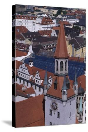Tower of Old City Hall, Munich, Detail, Germany--Stretched Canvas Print