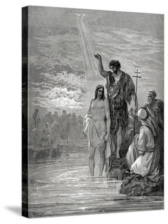 Baptism of Jesus--Stretched Canvas Print