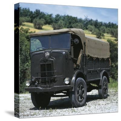 Italian Spa Autocarretta Vehicle, 1940--Stretched Canvas Print