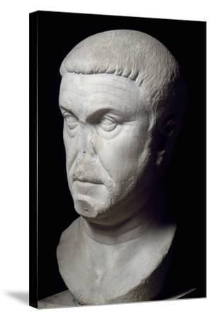 Head of Roman Emperor Maximian, 3rd Century--Stretched Canvas Print