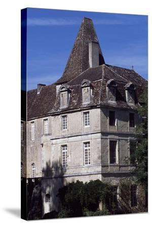 View of Chateau De La Marthonie, Saint-Jean-De-Cole, Aquitaine, France, 13th-17th Century--Stretched Canvas Print