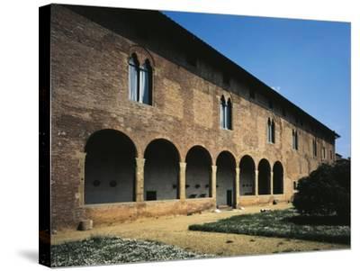 Glimpse of Facade, Villa Guinigi, Lucca, Tuscany, Italy--Stretched Canvas Print