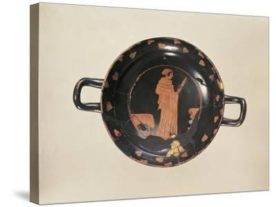 Red-Figure Attic Cup with Later Gold Trimming, from the Kleinaspergle Treasure--Stretched Canvas Print