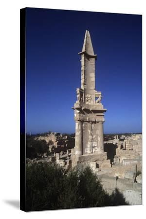 Libya, Sabratha, Historical Tripolitania, Punic Tomb--Stretched Canvas Print