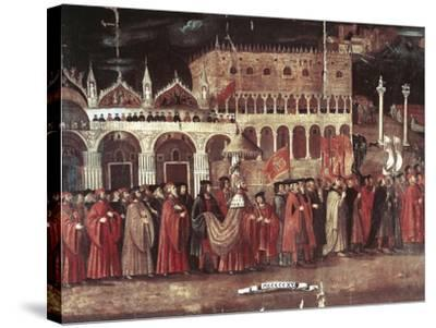 Caterina Cornaro Procession in Piazza San Marco, Venice, Italy, 1489--Stretched Canvas Print