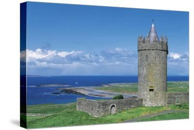 Ireland, Galway Bay, Dunguaire Castle--Stretched Canvas Print