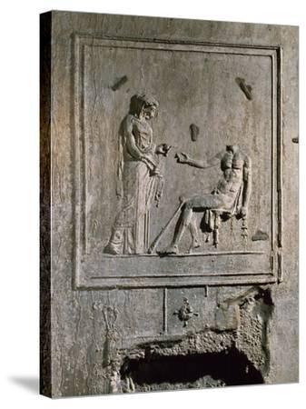 Stucco Relief from Basilica Di Porta Maggiore, Rome, Italy--Stretched Canvas Print