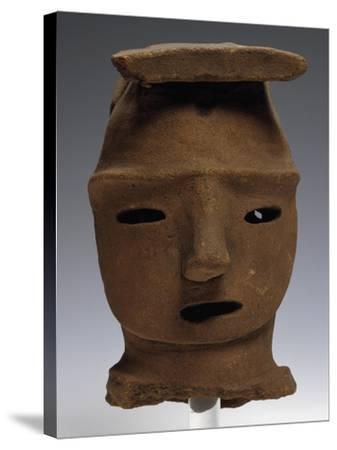 Head of Haniwa, Ritual Pottery from Saitama, Japan,--Stretched Canvas Print