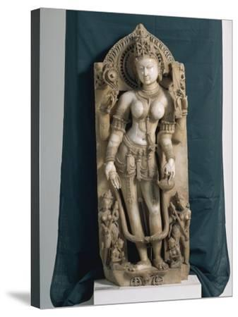 India, Rajasthan, Pali, the Goddess Saraswati, Gahadvala Period--Stretched Canvas Print