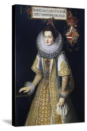 Portrait of Isabella of Austria--Stretched Canvas Print