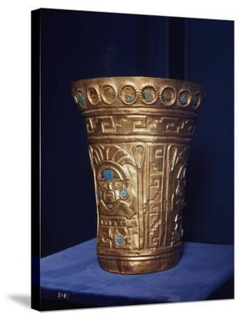 Vase with Human Face, Chimu Culture, Pre-Columbian Era, Peru, 14th-15th Century--Stretched Canvas Print