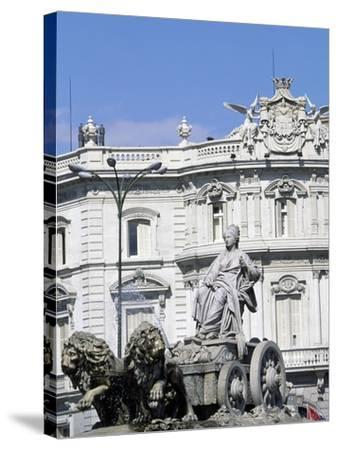 Spain, Madrid, Plaza De Cibeles, Fountain of Cybele, Detail, 1782--Stretched Canvas Print
