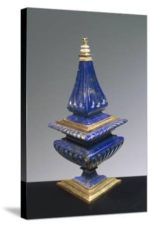Lapis Lazuli and Gilded Silver Salt Cellar, 16th Century--Stretched Canvas Print