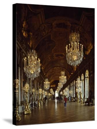 Hall of Mirrors, Palace of Versailles , France--Stretched Canvas Print