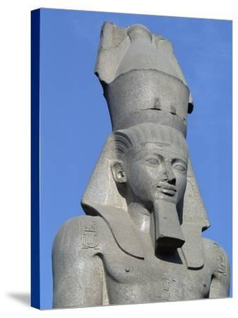 Colossal Statue of Ramses II, Cairo--Stretched Canvas Print
