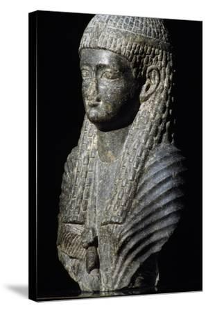 Ptolemaic Queen, Granite Statue, Found in Fouah, Ptolemaic Period BC--Stretched Canvas Print