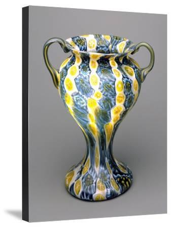 Flower Vase with Murrine, 1910-1920, Italy--Stretched Canvas Print