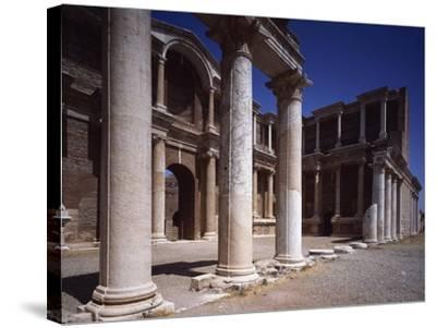 Turkey, Sardis, Two-Story Portico of Gymnasium--Stretched Canvas Print